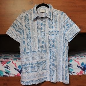 Alfred Dunner Short-Sleeve Button Up, Size 14, NEW